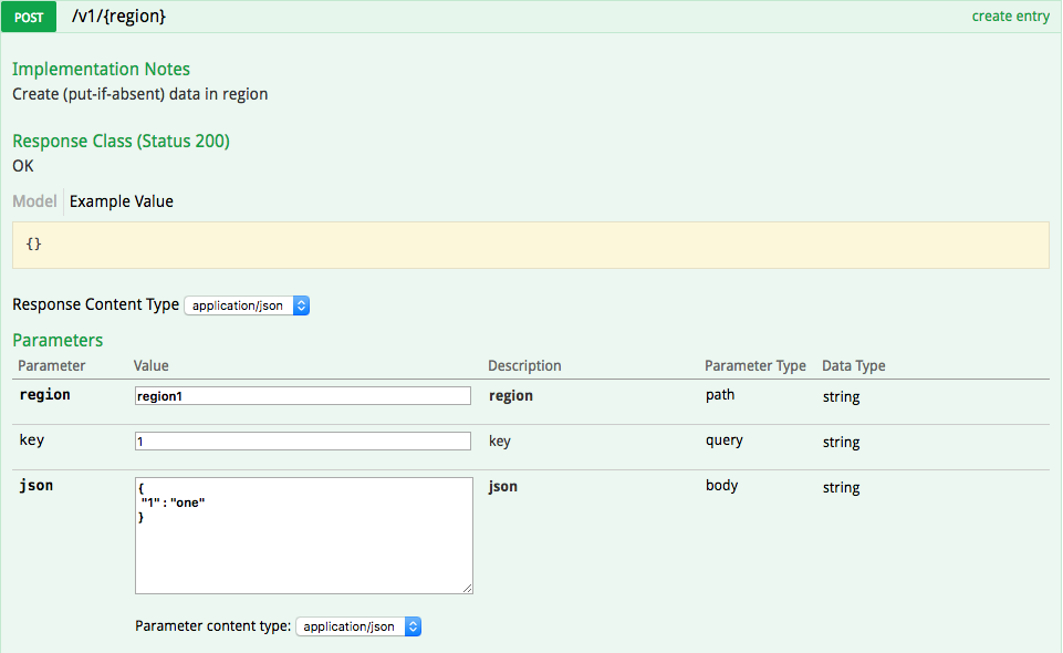 Using The Swagger Ui To Browse Rest Apis Pivotal Gemfire Docs